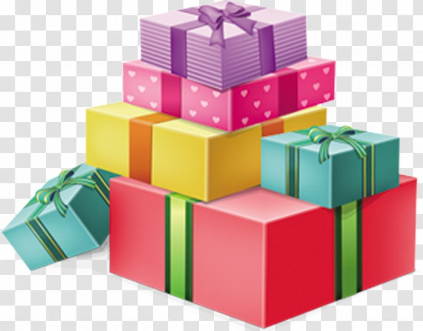 Gift Christmas Colorful Box Vector Transparent Png