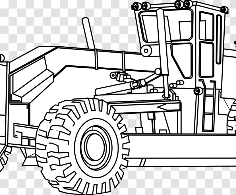 John Deere Caterpillar Inc Colouring Pages Coloring Book Agricultural Machinery Construction Tractor Transparent Png