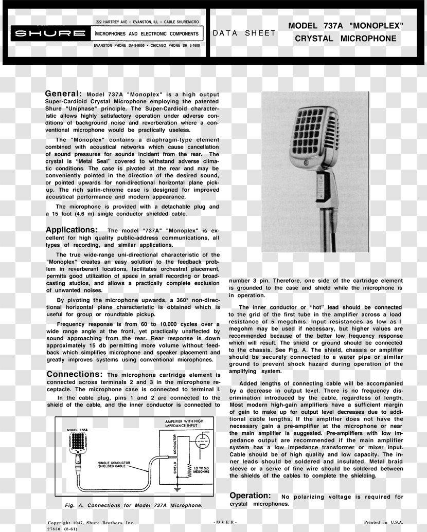 Microphone Wiring Diagram Shure 577B - Audio - SM58 Transparent PNGPNGHUT