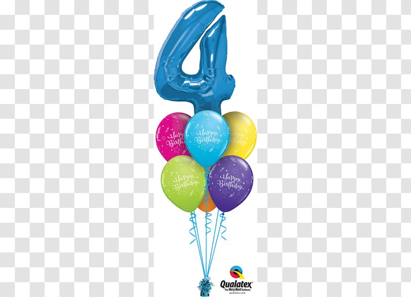 Gas Balloon Birthday Party Flower Bouquet Supply Transparent Png