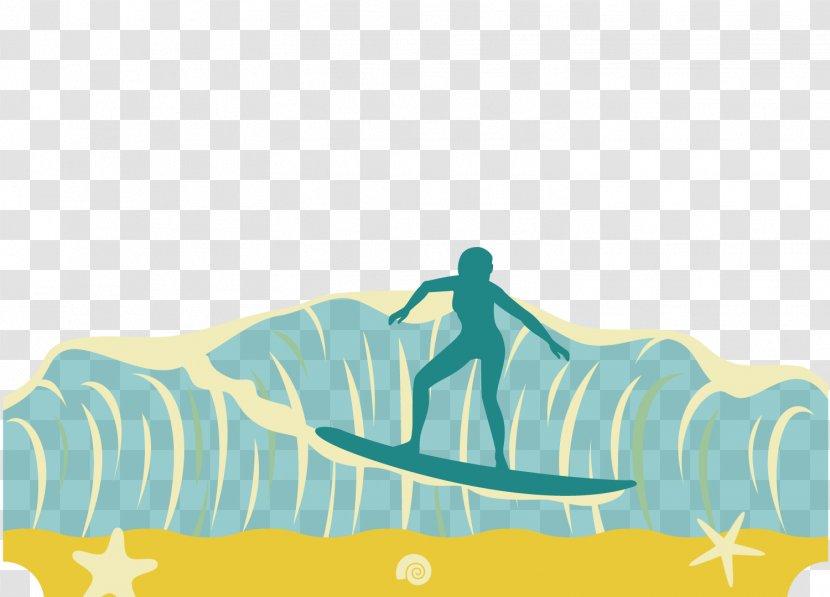 Graphic Design Surfing Wind Wave Illustration - Sea Vector Transparent PNG