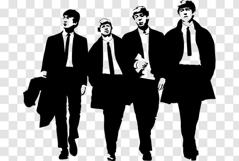 The Beatles Abbey Road Silhouette Clip Art John Lennon Business Man Transparent Png