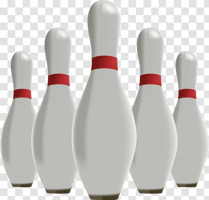 Bowling Pin Ball Skittles - Vector Transparent PNG