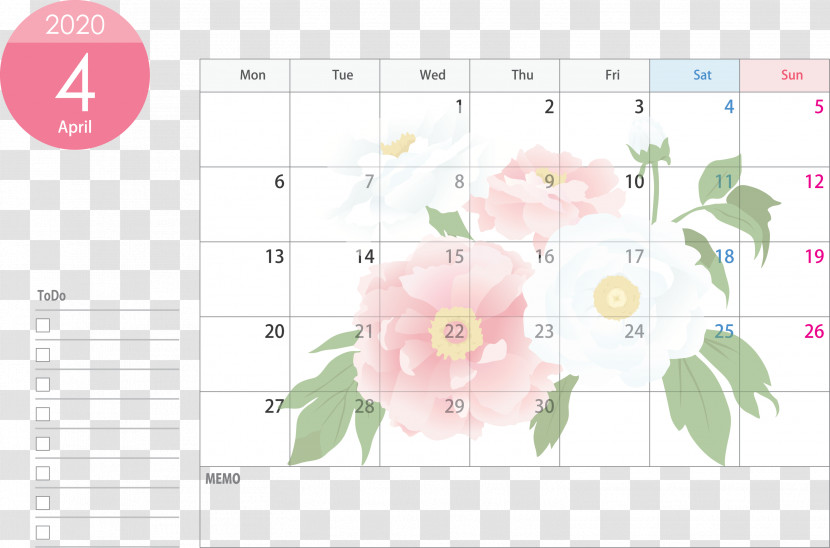 April 2020 Calendar April Calendar 2020 Calendar Transparent PNG