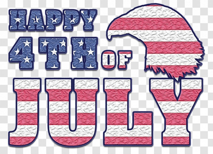 Happy Independence Day Text - 4th Of July - Pink Transparent PNG