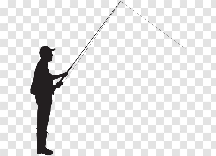 Silhouette Fisherman Fishing Clip Art Drawing Clipart Transparent Png
