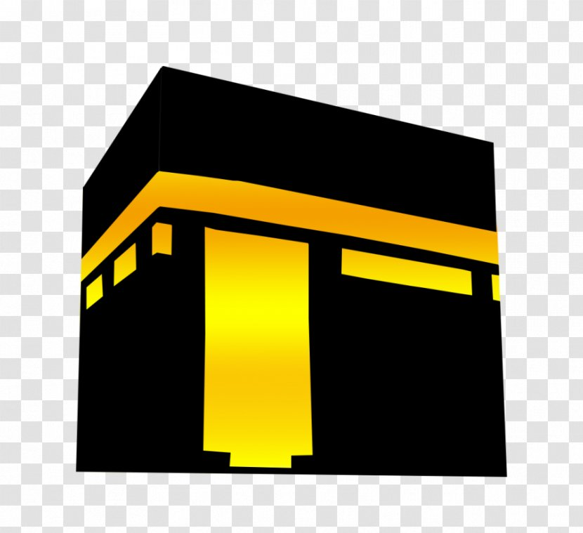 islam logo yellow great mosque of mecca rectangle