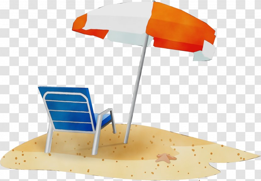 Travel Summer Beach - Vacation - Umbrella Orange Transparent PNG