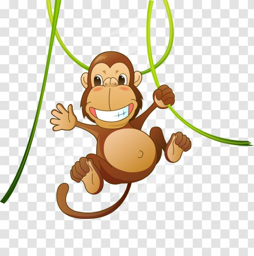 Baby Jungle Animals Clip Art - Safari - Cute Animal Cartoon Monkey Transparent PNG