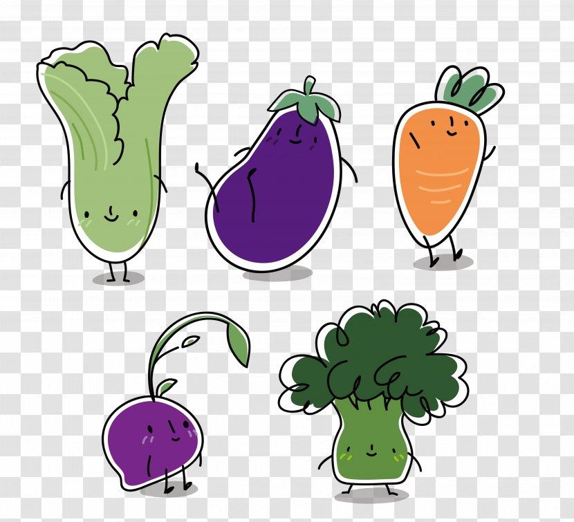 Vegetable Eggplant Chinese Cabbage Fig Cartoon Vegetables Transparent Png