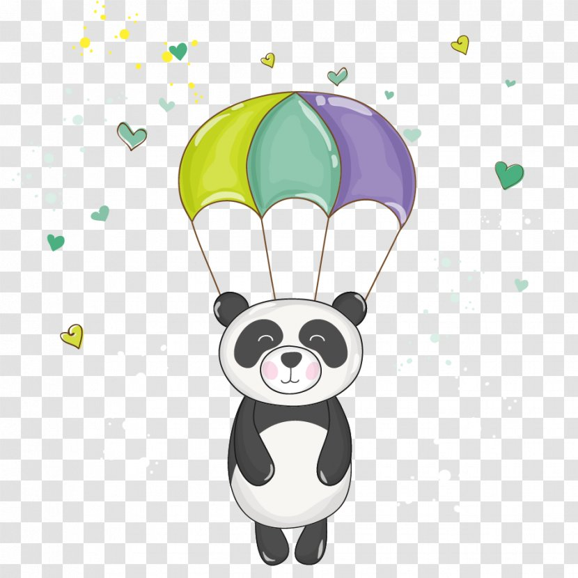 Giant Panda Bear Baby Shower Clip Art Royaltyfree Cartoon Transparent Png