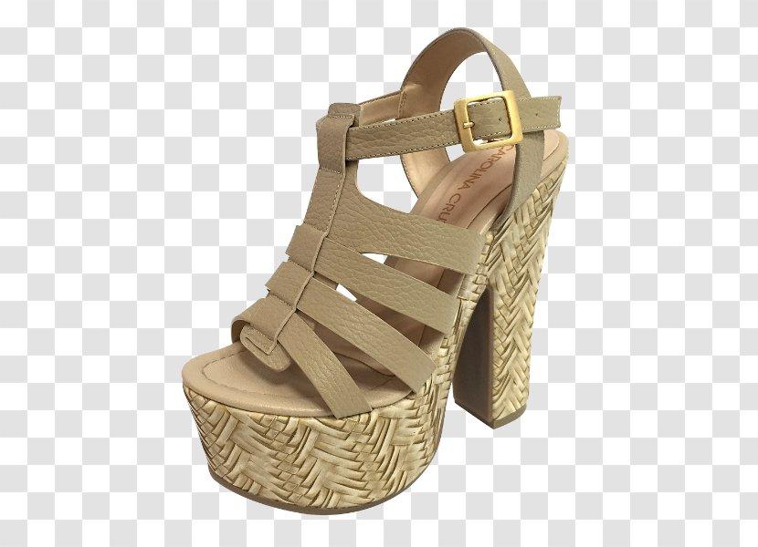 Slide Shoe Suede Sandal Beige - Walking Transparent PNG