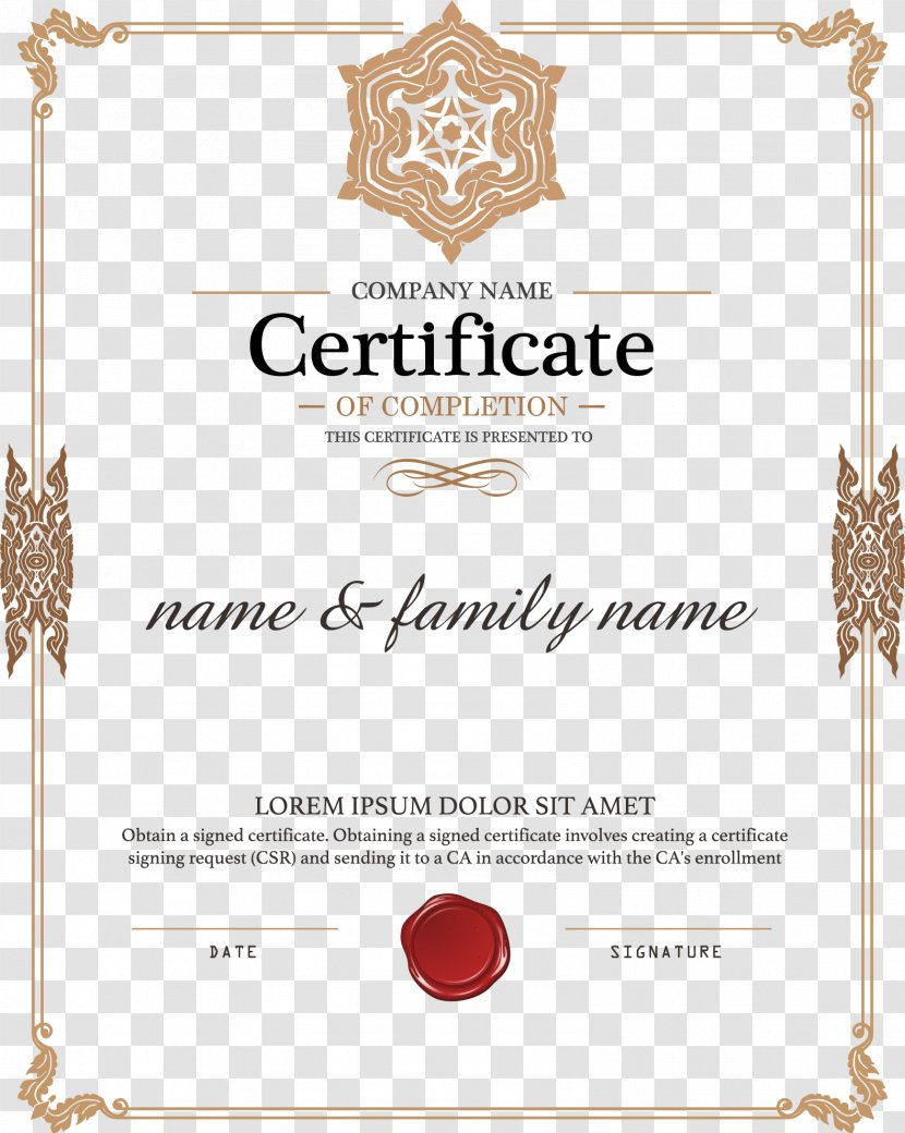 Academic Certificate Diploma Authorization Public Key - Area Within Graduation Certificate Template Word