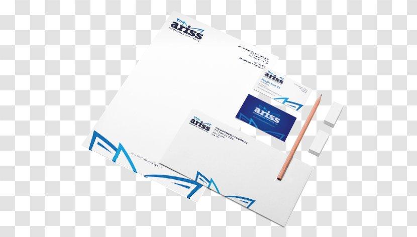 Brand Logo Organization - Microsoft Azure - Letterhead Mock Up Transparent PNG