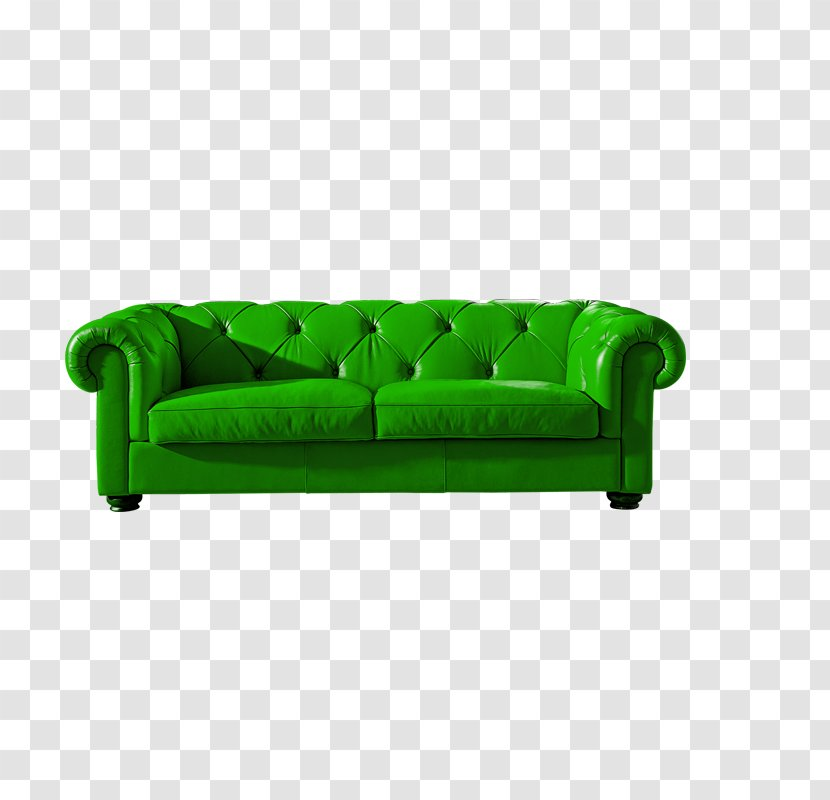 Sofa Bed Green Couch Hide Leather Transparent Png
