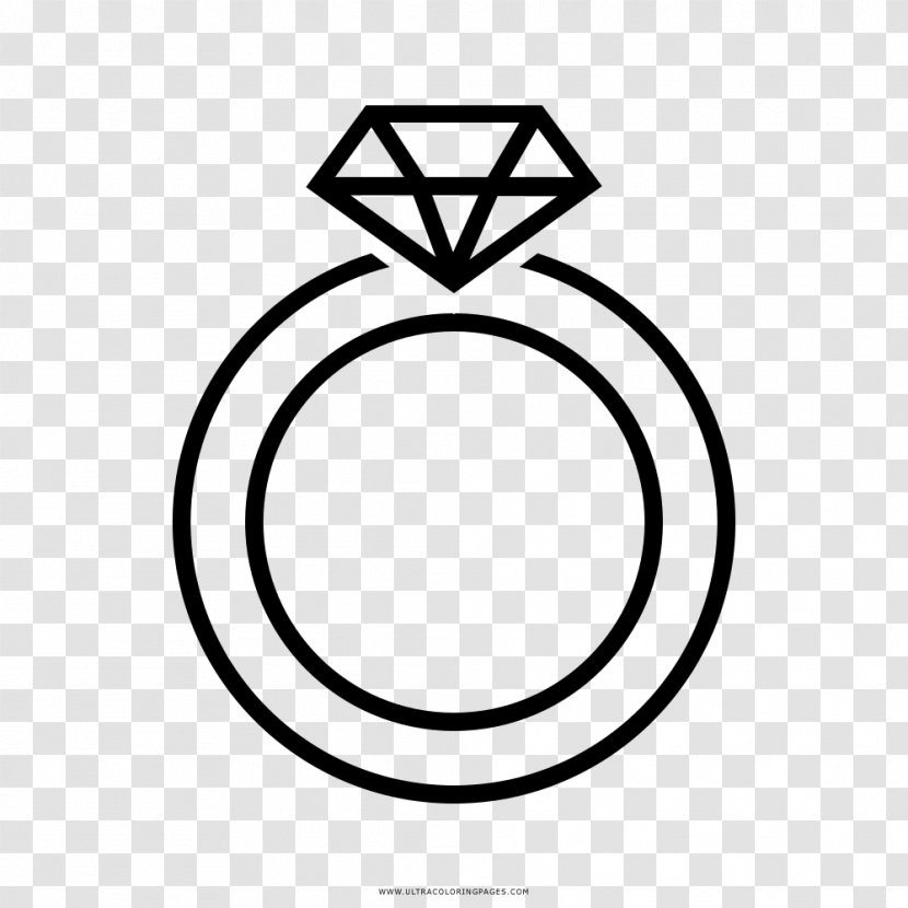 Earring Wedding Ring Drawing Coloring Book Line Art Rings Vector Transparent Png