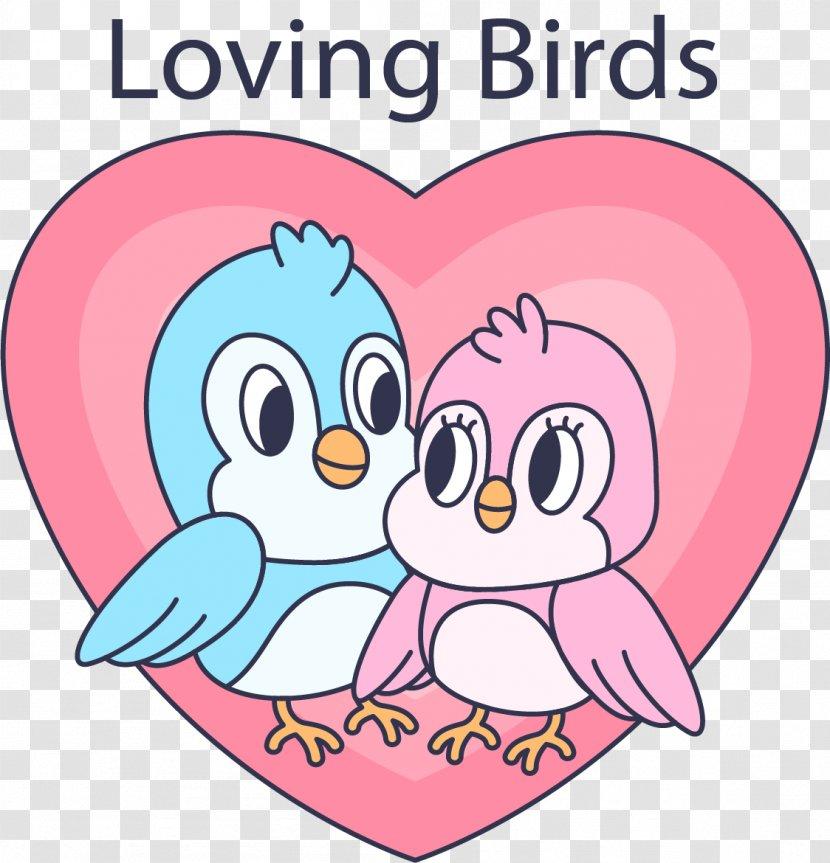 Love Cuteness Wallpaper Silhouette Pink Romantic Birds Transparent Png