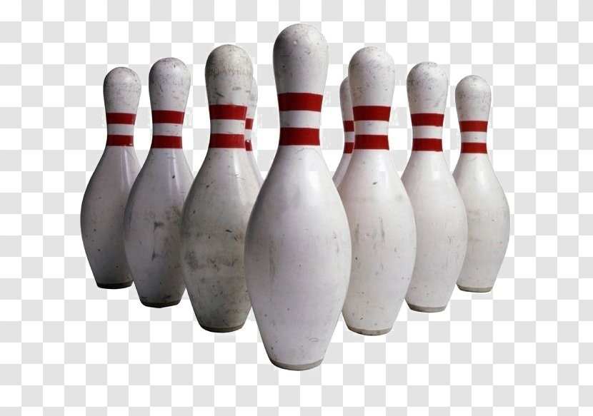 Bowling Pin Ball Clip Art - Neatly Placed White Pins Transparent PNG