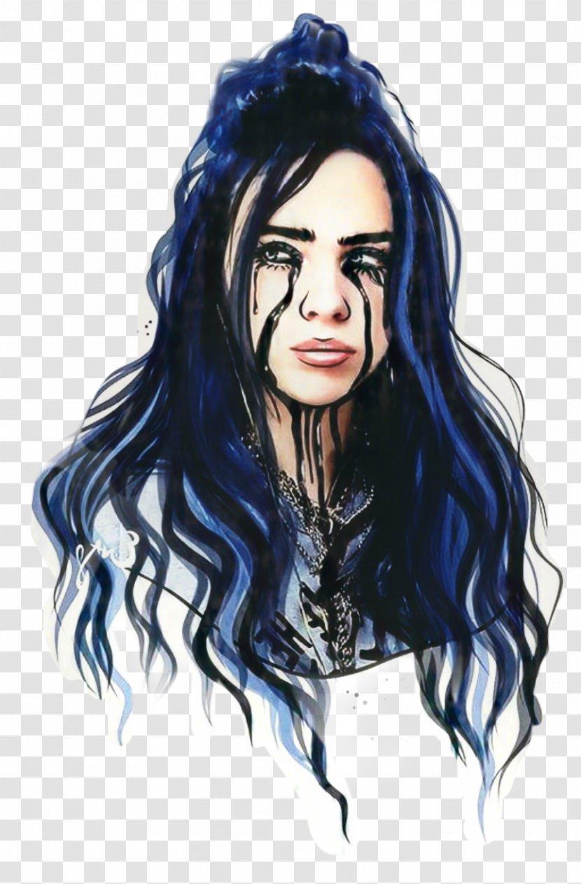 Billie Eilish Background Watercolor Paint Lace Wig Transparent Png