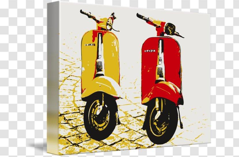 Scooter Vespa Pop Art Motorcycle - Mural Transparent PNG
