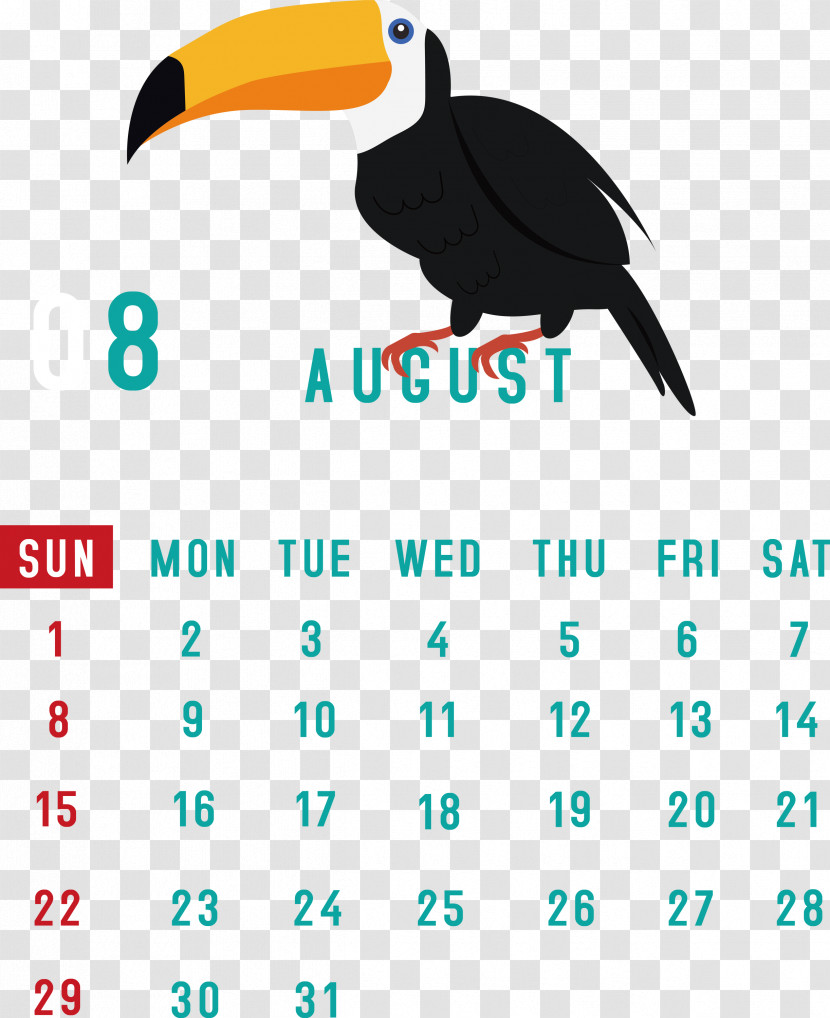 August 2021 Calendar August Calendar 2021 Calendar Transparent PNG