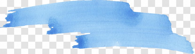 Blue Watercolor Painting Brush Stroke Transparent Png