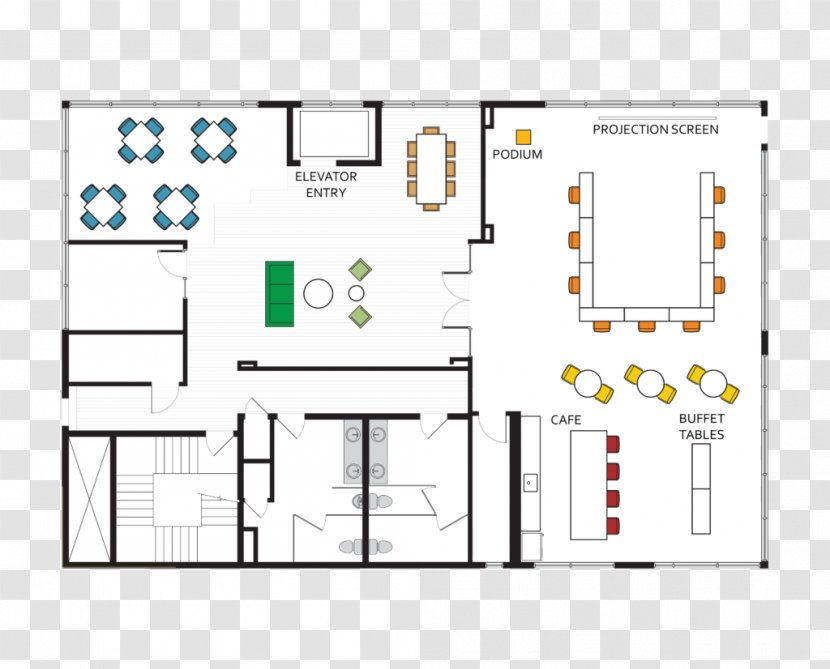 Floor Plan Architecture Facade Stairs Transparent Png