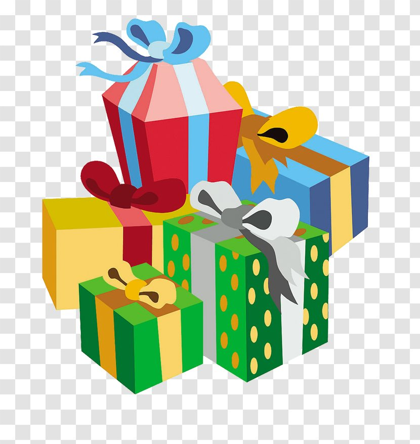 Present Vector Gift Clipart - Yellow Present Clipart - 582x598 PNG Download  - PNGkit