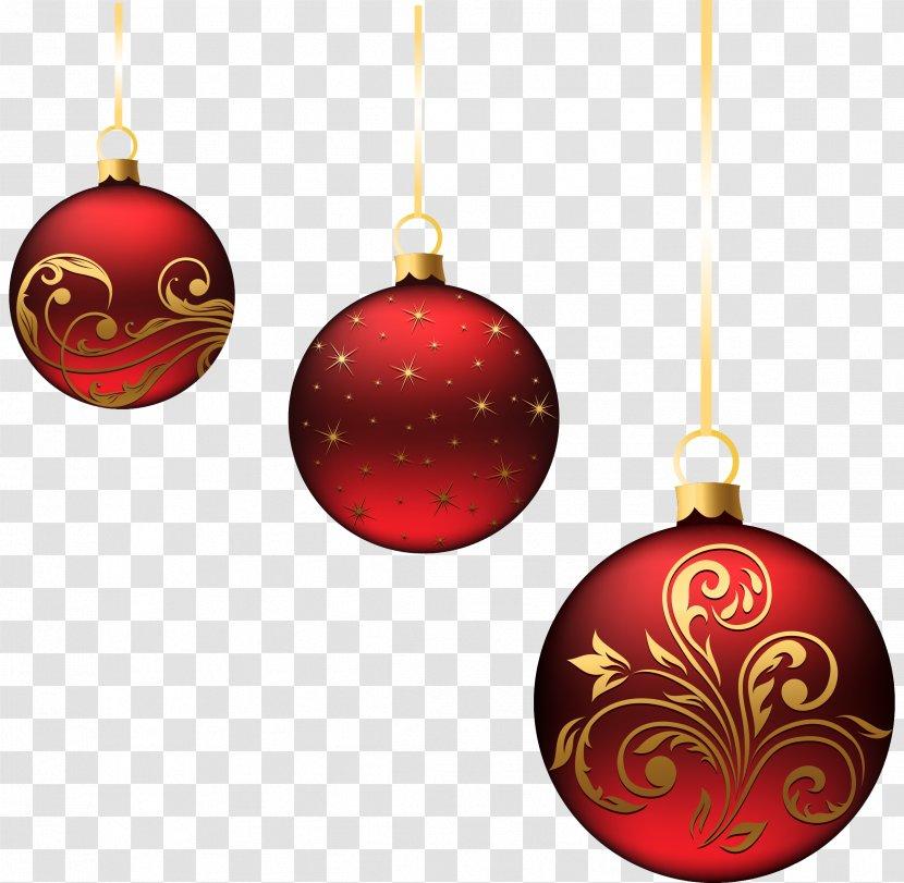 Christmas Ornament Decoration Clip Art Decor Red Balls Ornaments Picture Transparent Png