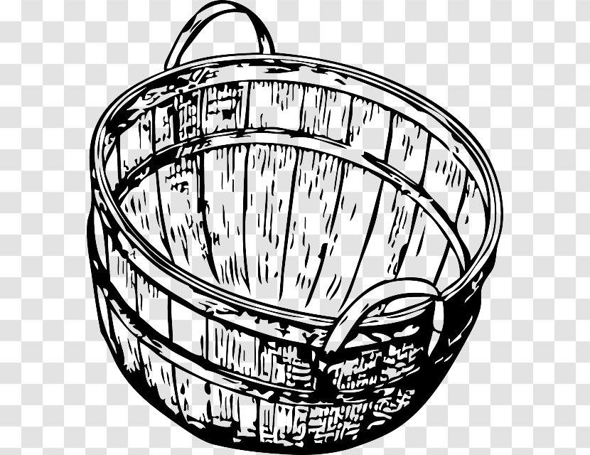 Basket With Fruits Black And White