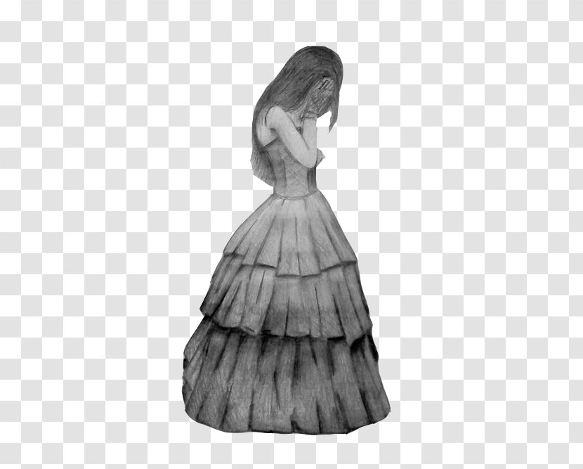 Drawing Draw Gothic Love Sketch Fashion Illustration Black And White Transparent Png