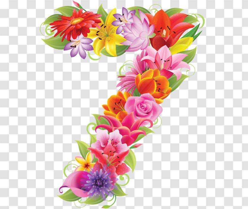 Number Letter Numerical Digit Clip Art Floral Design Artificial Flower Transparent Png