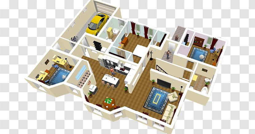 Sweet Home 3d House Floor Plan Computer Software Transparent Png