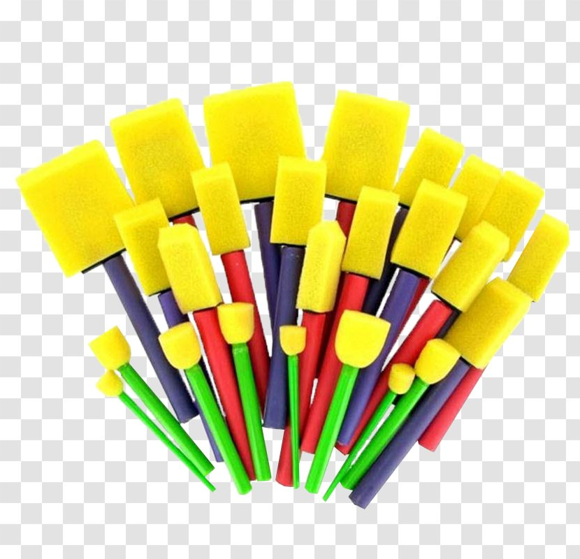 Paint Brushes Sponge Cosmetics - Foam Transparent PNG