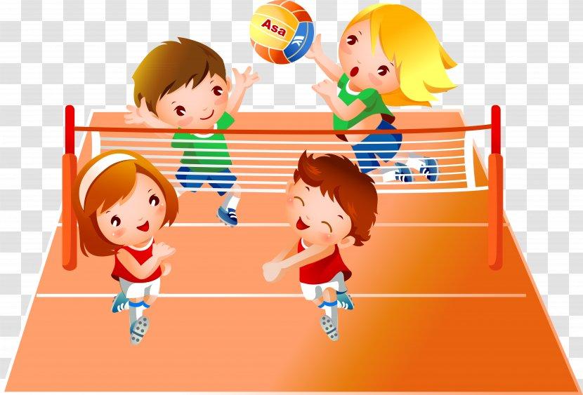 Volleyball Sport Child Clip Art Transparent PNG