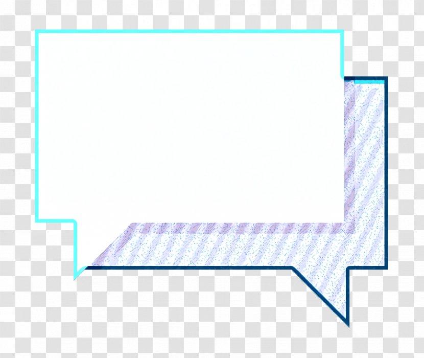 Chat Icon Engagement Message Electric Blue Aqua Transparent Png
