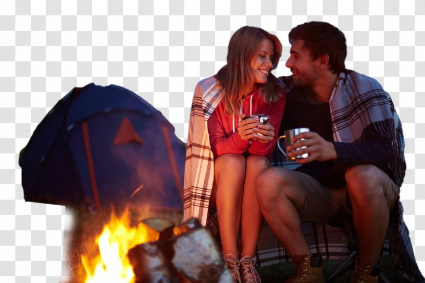 Camping Campsite Tent Campfire S'more - Cartoon Transparent PNG