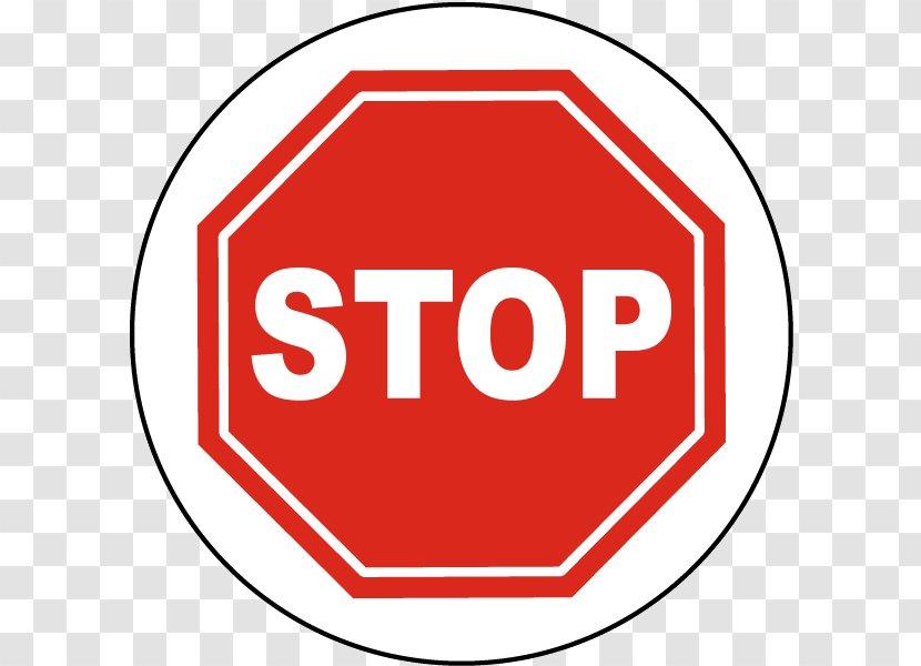 Stop Sign Symbol - Floor Sticker Transparent PNG