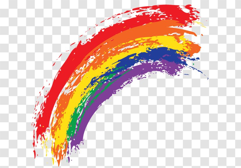 Watercolor Painting Rainbow - Ink Material Picture Transparent PNG