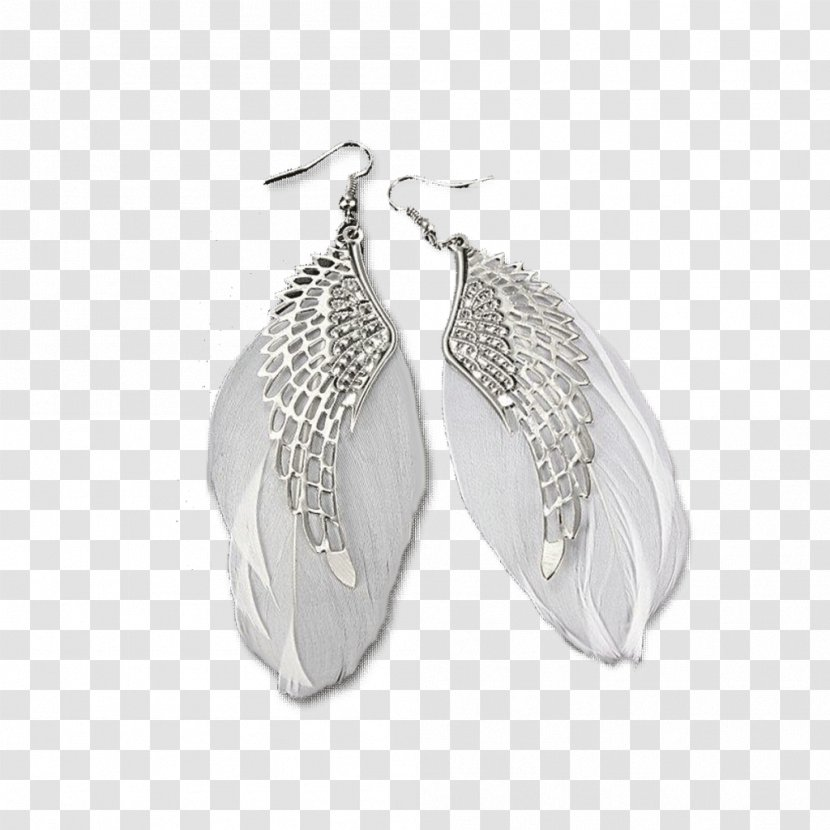 Earring Jewellery Fashion Feather Transparent PNG