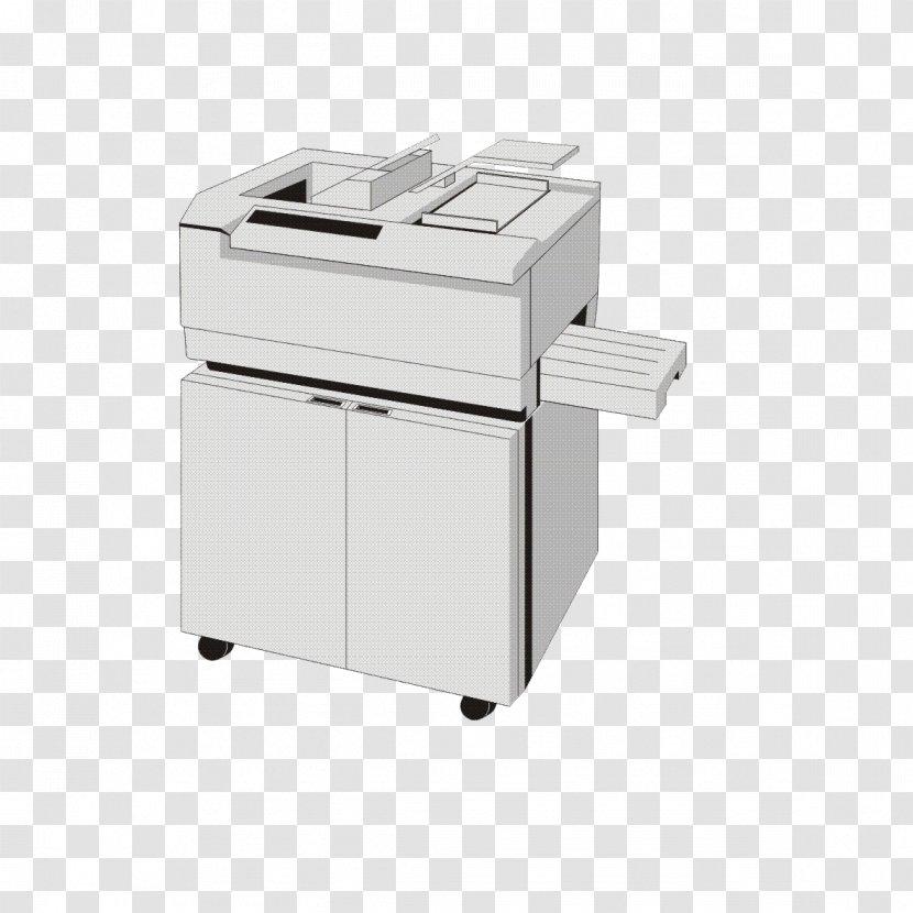 Printer Cartoon White Image Transparent Png