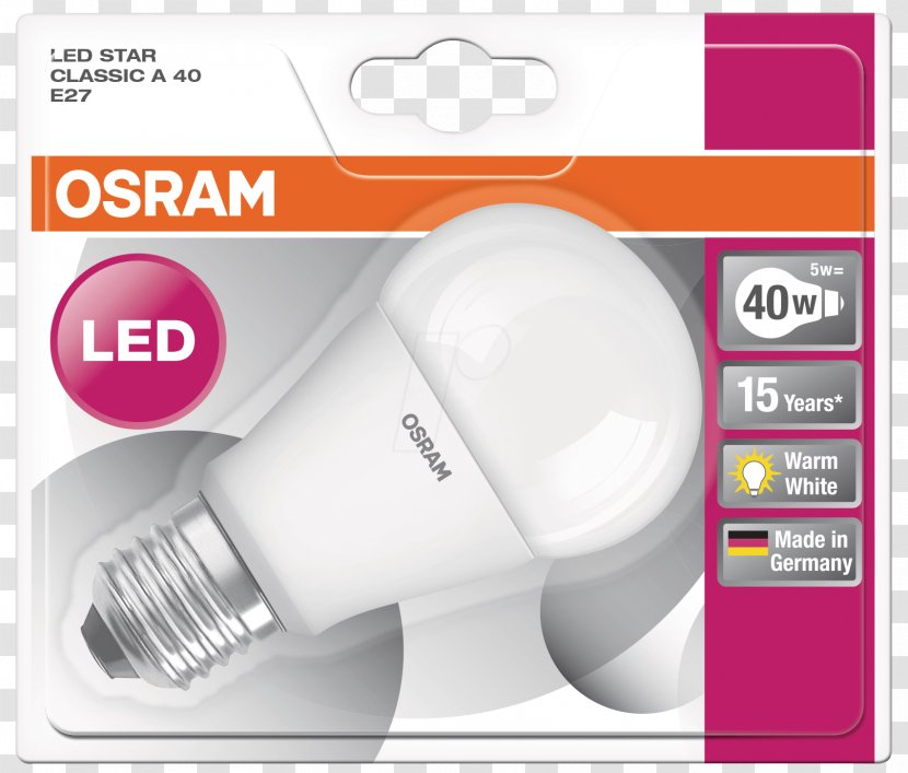 Incandescent Light Bulb LED Lamp Osram - Bipin Base Transparent PNG