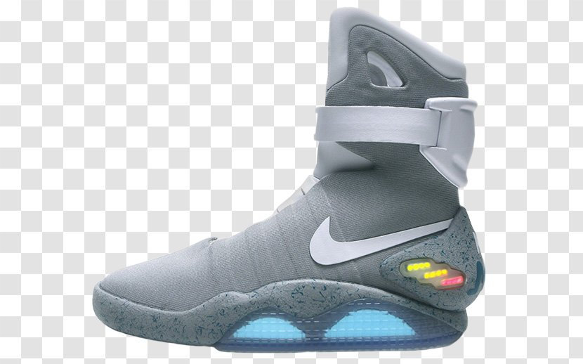 Supervivencia Parte miel  Nike Mag Marty McFly Back To The Future Shoe - Black Transparent PNG