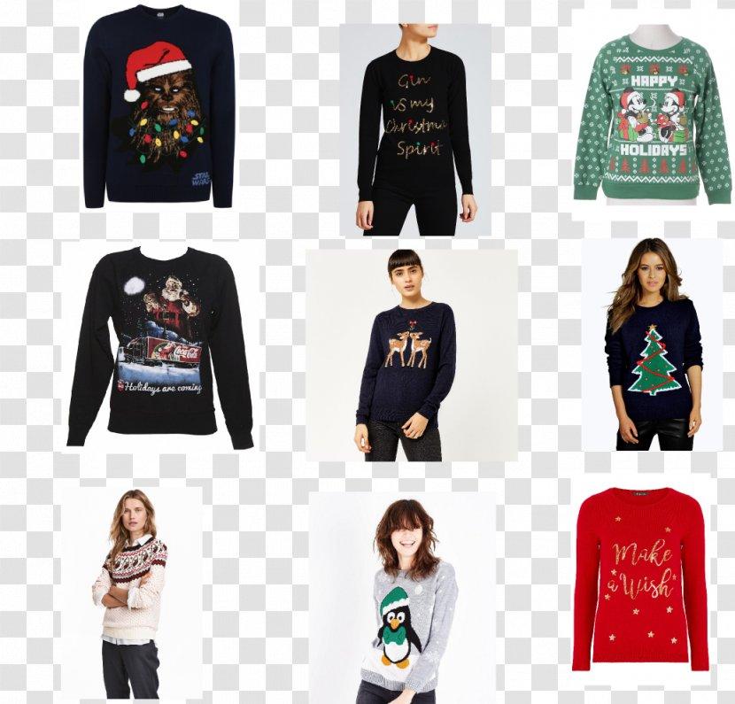Long-sleeved T-shirt Outerwear Shoulder - Longsleeved Tshirt - Christmas Jumper Transparent PNG