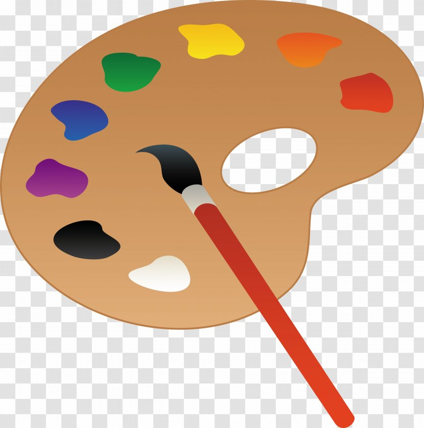 Palette Oil Paint Painting Clip Art Brush Cartoon Cliparts Transparent Png