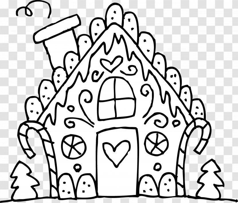 - Gingerbread House Eggnog Gumdrop Candy Cane Coloring Book - Heart - Line  Cliparts Transparent PNG
