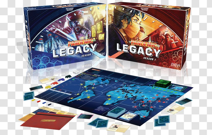 Z-Man Games Pandemic Legacy: Season 1 Legacy Game Board - Devir Transparent PNG