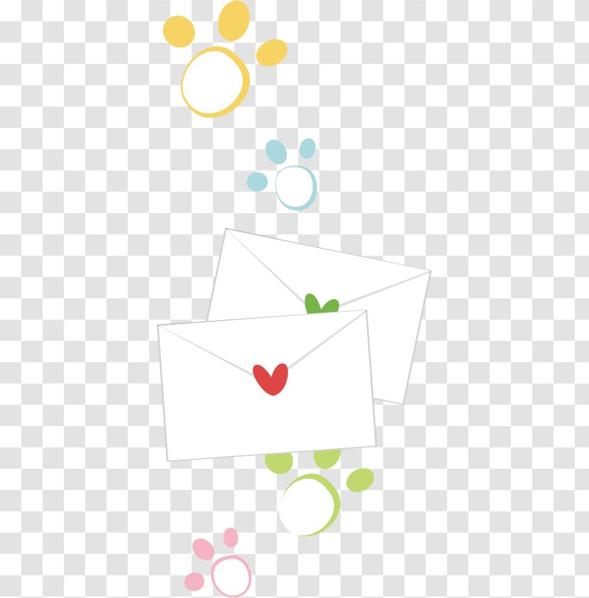 Paper Envelope Stationery Drawing - Heart - Cartoon Transparent PNG