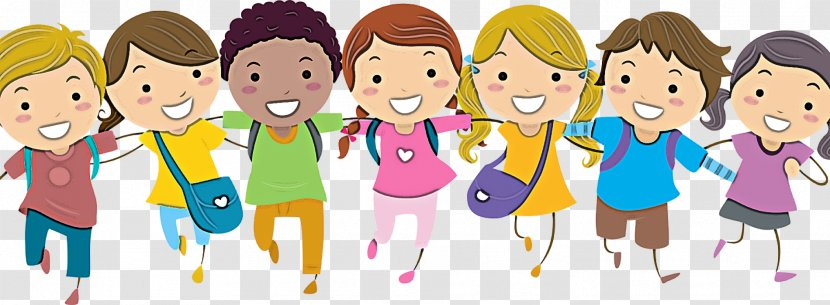 Cartoon People Social Group Community Youth Child Fun Transparent Png
