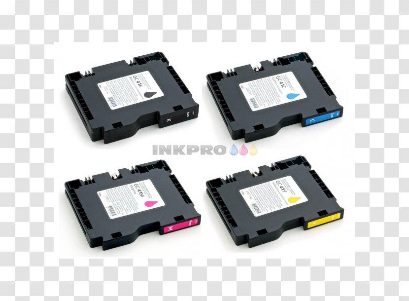 Electronics Flash Memory Ricoh Printer Ink Cartridge - Accessory Transparent PNG